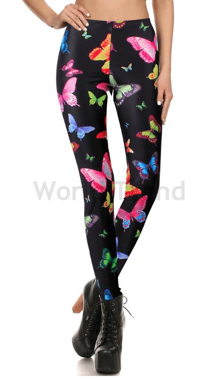 ff3525cf62 Színes lepkés leggings - lepke mintás leggings, mintás leggings ...