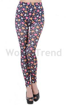 644b93fbd7 leggings - színes leggings, vastag leggings, fekete leggings, virág ...