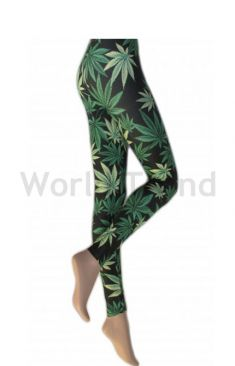Silky Leaf Leggings auch in Extra Groß