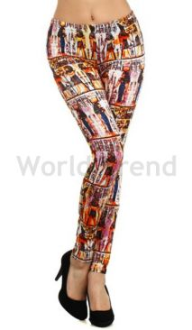 Baumwolle Leggings mit Pharaomuster