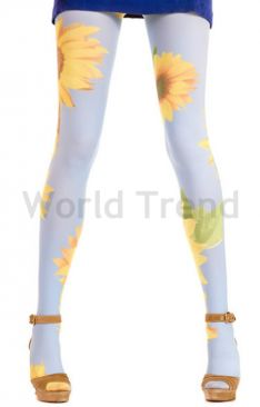 Hotlook Big sunflower 70 Den Strumpfhose