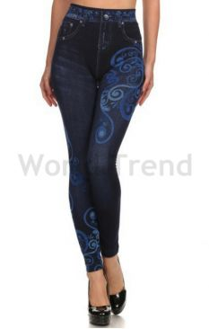Art Deco Jeans Leggings